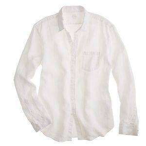 JCrew Irish Linen Baird McNutt White Casual Shirt